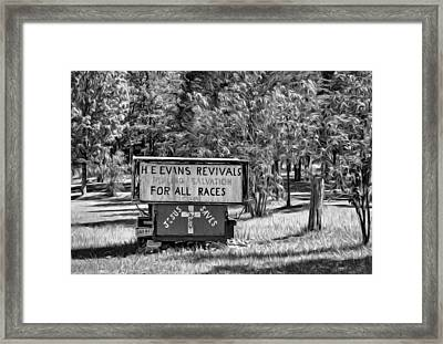 Have Miracle - Will Travel. Paint Bw Framed Print