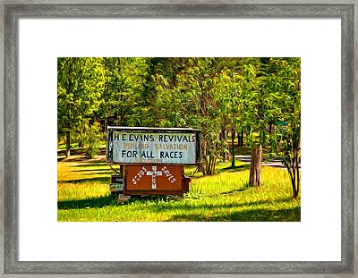 Have Miracle - Will Travel. Paint Framed Print