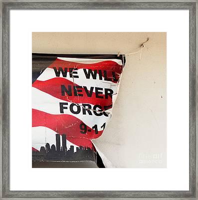 Have We Forgotten Framed Print
