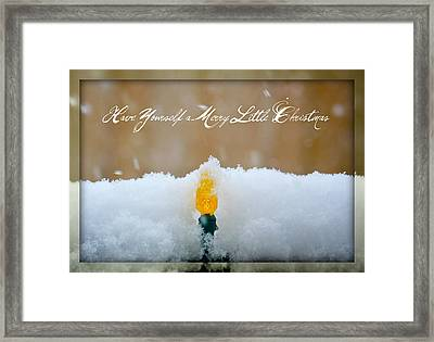 Have Yourself A Merry Little Christmas Framed Print by Lisa Knechtel