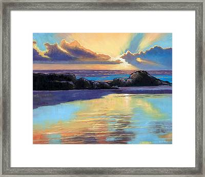 Havik Beach Sunset Framed Print