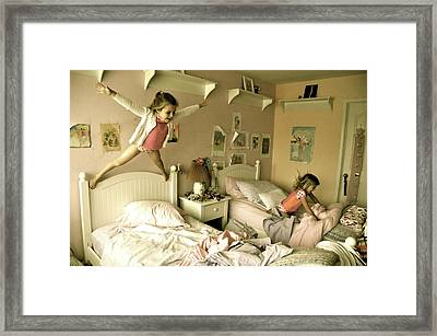 Having A Blast Framed Print by Valerie Rosen