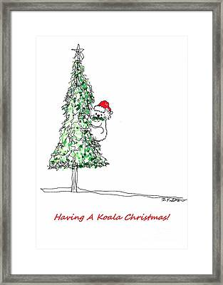 Having A Koala Christmas Framed Print