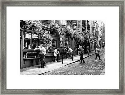 Having A Pint Framed Print by John Rizzuto