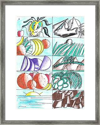 Having Fun Drawing  Framed Print by HPrince De Artist