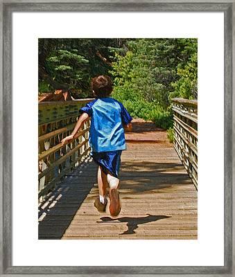 Having Fun Framed Print by Ernie Echols
