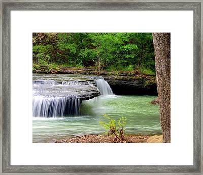 Haw Creek Falls Framed Print by Marty Koch