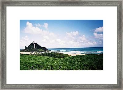 Hawaii Beach Scene Framed Print by Judyann Matthews