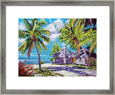 Hawaii Beach Shack Framed Print by David Lloyd Glover