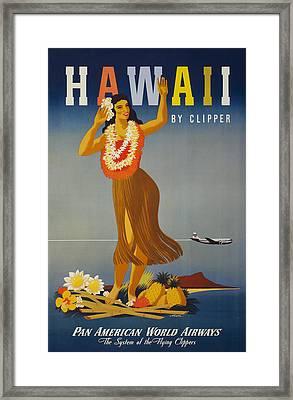 Hawaii By Clipper Framed Print by Georgia Fowler