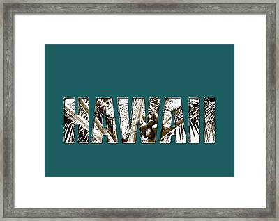 Framed Print featuring the photograph Hawaii Coconut Palm Type by Kerri Ligatich