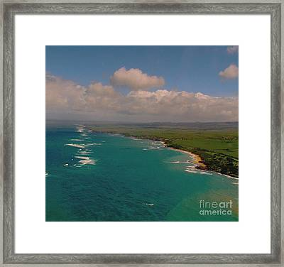 Hawaii From Above Framed Print by Louise Fahy