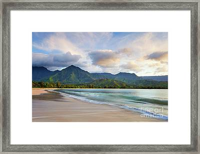 Hawaii Hanalei Dreams Framed Print by Monica and Michael Sweet