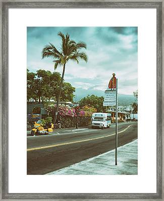 Hawaii Ironman Start Point  Framed Print by Mary Lee Dereske