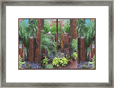 Hawaii Lava Stone Craft Carving Decorative Water Fountains By American Artists Photography By Navinj Framed Print by Navin Joshi