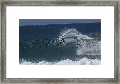 Hawaii Pipeline Framed Print by Sarah Houser