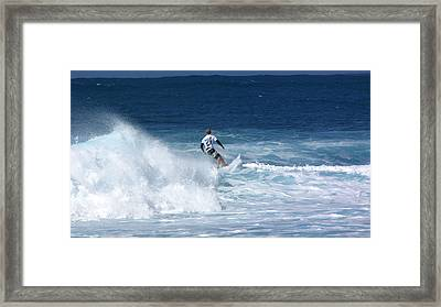 Hawaii Pipeline Surfer Framed Print by Sarah Houser