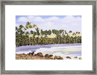 Hawaii Postcard Framed Print by Hawaiian Legacy Archive - Printscapes