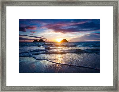 Hawaii Sunrise Framed Print by Robert Davis