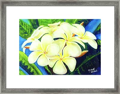 Hawaii Tropical Plumeria #158 Framed Print by Donald k Hall