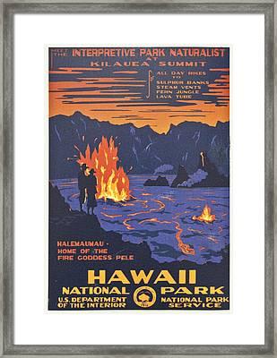 Hawaii Vintage Travel Poster Framed Print