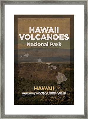 Hawaii Volcanoes National Park In Hawaii Travel Poster Series Of National Parks Number 30 Framed Print