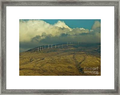 Hawaii Windmills On Maui One Framed Print by Vance Fox