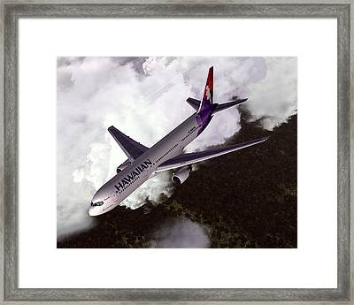Hawaiian Airlines Boeing 767-300er Framed Print