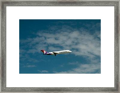 Hawaiian Airlines Inbound Framed Print