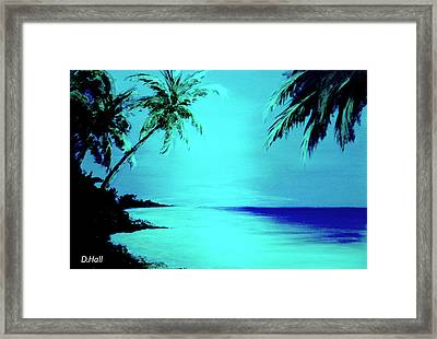 Hawaiian Beach Art Painting #188 Framed Print by Donald k Hall