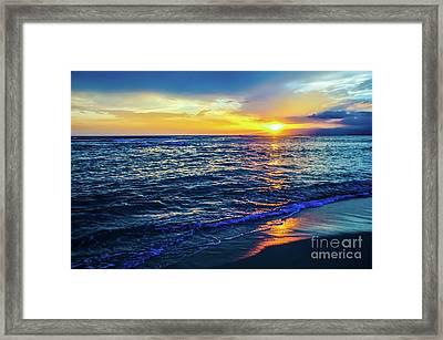 Hawaiian Beach Sunset Framed Print