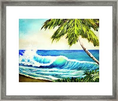 Hawaiian Beach Wave #420 Framed Print by Donald k Hall