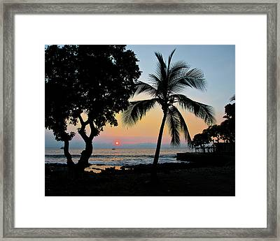 Hawaiian Big Island Sunset  Kailua Kona  Big Island  Hawaii Framed Print