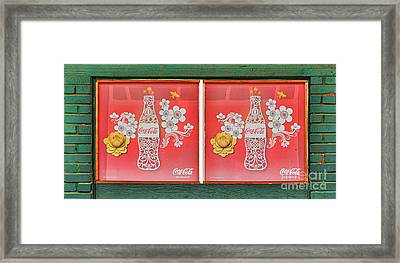 Hawaiian Coca-cola Sign Framed Print by Mitch Shindelbower