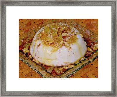 Hawaiian Coconut Cream Pudding Framed Print by James Temple
