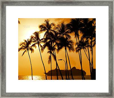 Hawaiian  Cruise Framed Print by Athala Carole Bruckner