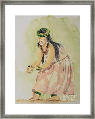 Hawaiian Dancer Framed Print by Gretchen Bjornson