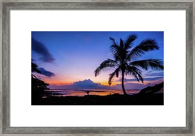 Hawaiian Dawn Colors Framed Print