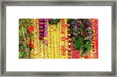 Hawaiian Flower Lei's Framed Print