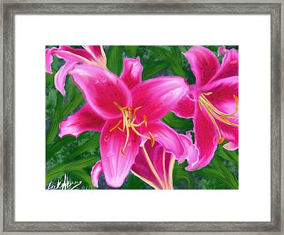 Hawaiian Flowers Framed Print