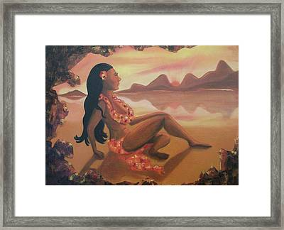 Hawaiian Girl Framed Print by Suzanne  Marie Leclair