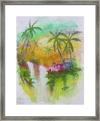 Hawaiian Homestead In The Valley #460 Framed Print by Donald k Hall