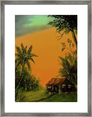 Hawaiian Homestead Sunset #05 Framed Print by Donald k Hall