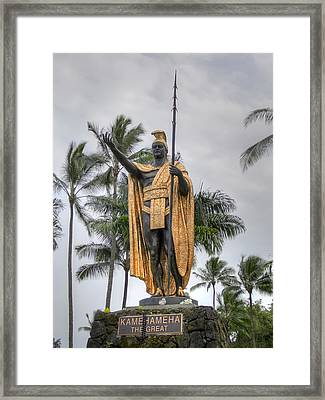 Hawaiian King Kamehameha Framed Print