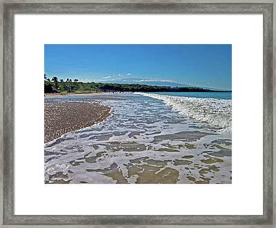 Hawaiian Landscape Of Hapuna Beach Framed Print