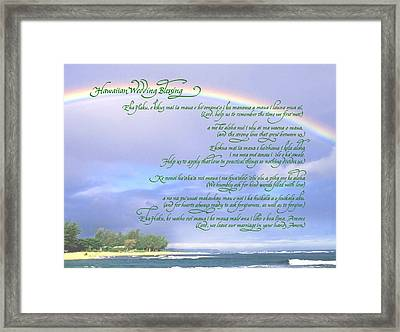 Hawaiian Language Wedding Blessing Framed Print