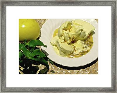 Hawaiian Lilikoi Ice Cream Framed Print