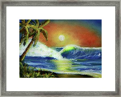 Hawaiian Moon #399 Framed Print by Donald k Hall
