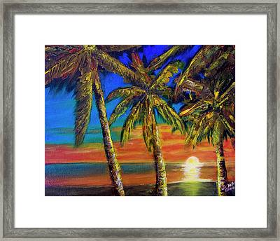 Hawaiian Moon #404 Framed Print by Donald k Hall