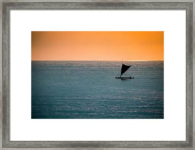Hawaiian Outrigger Canoe Framed Print by Mary Lee Dereske